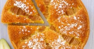 tarte aux poires crème d'amandes kitchenk